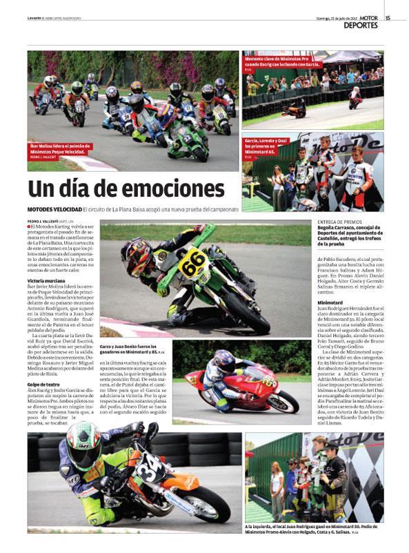 En las carreras de motos