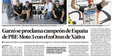 Levante 29 oct 2014………………CAMPEONES 2014 Copa de España de Velocidad PreMoto3